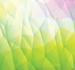 Abstract green background made from triangles