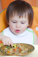 18 months baby eating ragout