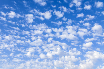 Blue sky with light white clouds