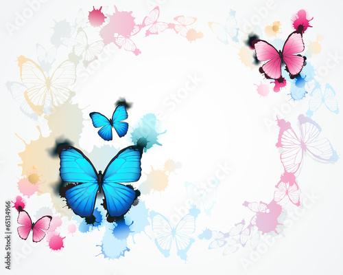 Naklejka butterfly background
