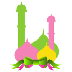 beautiful colorful ramadan kareem illustration