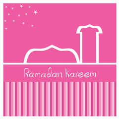 Ramadan background, vector illustration