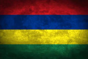 Mauritius grunge flag