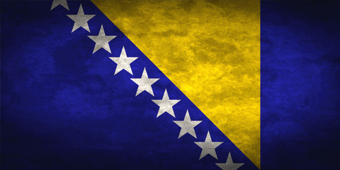 Bosnia and Herzegovina grunge flag