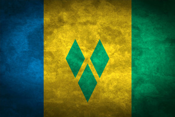 Saint Vincent and the Grenadines grunge flag