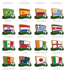 soccer cup 2014 icons