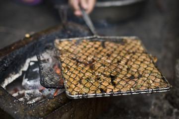 barbecue de rue à Hanoi, Vietnam