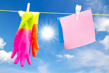Colorful cleaning