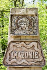 Amazon rainforest sign