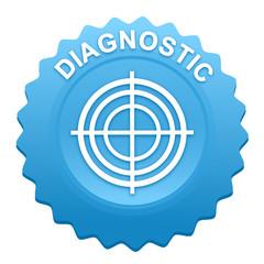 diagnostic sur bouton web denté bleu