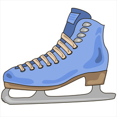 vector skates for figure skating on a white background