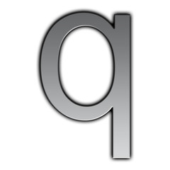 Illustration of metal font - q