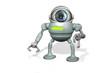canvas print picture - Cam Roboter Auge B2
