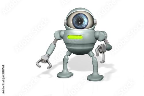 canvas print picture Cam Roboter Auge B2