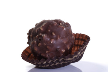 Praline schokolade isoliert