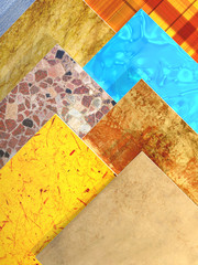 Samples of ceramic tiles