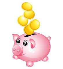Piggy bank. Money concept icon.