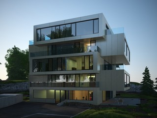 Contemporary building exterior design