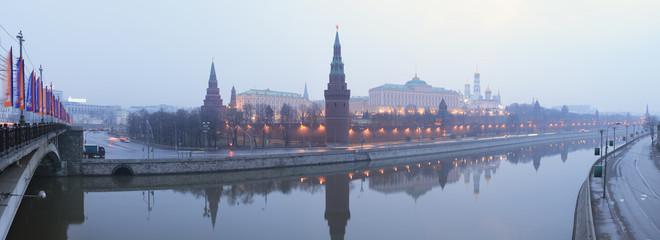 Russia. Moscow. Kremlin. Gloomy morning