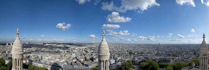 paris huge aerial view from montmatre