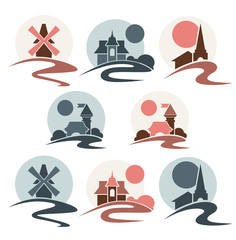vector collection of landscapes and travel destinations