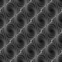 Design seamless whirl ellipse geometric pattern