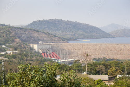 Aluminium Dam Akosombo Hydroelectric Power Station on the Volta River in Ghana
