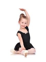 little ballerina sitting