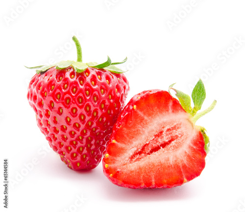 Perfect red ripe strawberry isolated