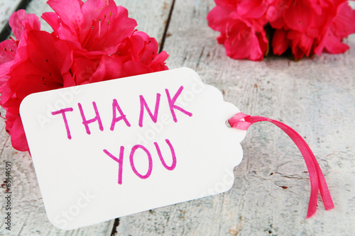 Papiers peints Azalea thank you note