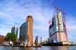 canvas print picture - Hamburg Hafencity und Elbphilharmonie