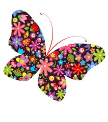 Print with butterfly
