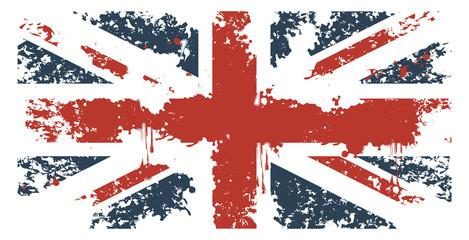 Britain flag with grunge texture