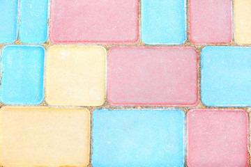 Colorful pavement background