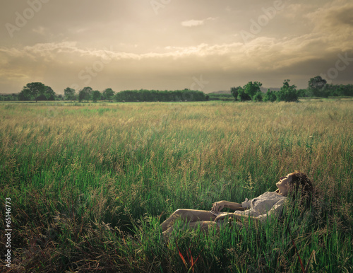relax in a field
