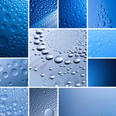 Wassertropfen lotuseffekt set collage