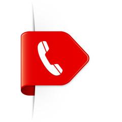 Phone - Roter Sticker Pfeil mit Schatten