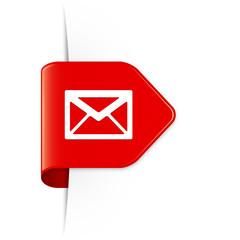 Envelope - Roter Sticker Pfeil mit Schatten