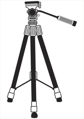 tripod for photo camera isolated on white background