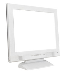 side view grey computer display