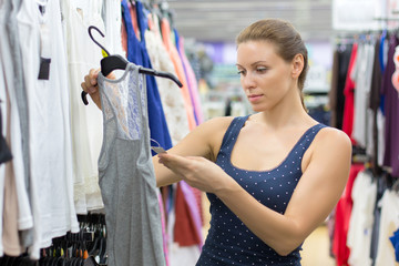 woman buys clothes