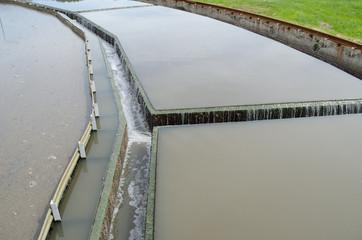water flow filtration sedimentation stage in plant