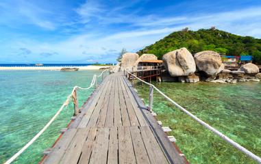 Bridge to Nangyuan island, Suratthani, Thailand