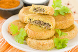 Batata Chap - Middle Eastern potato croquette filled with lamb poster