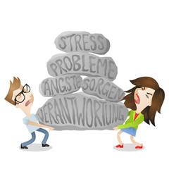 Paar, Stress, Belastung, Beziehungsprobleme