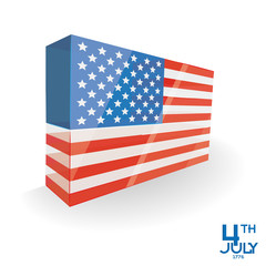 American Independence Day Background Template Editable