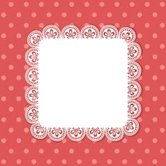 square lace border background