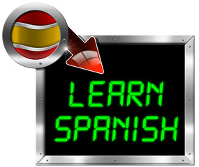 Learn Spanish - Metal Billboard