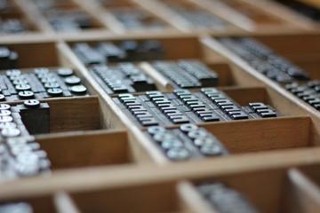 Buchdruck Setzkasten