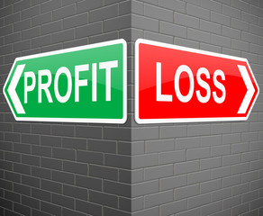 Profit or loss concept.